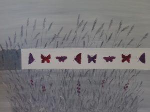 Sisustustaulu Heinät ja perhoset