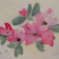 Ruusut akvarelli